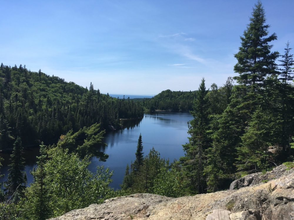 View from walking trail near Lake Superior