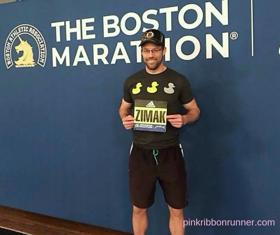 Trevor Zimak at Boston Marathon