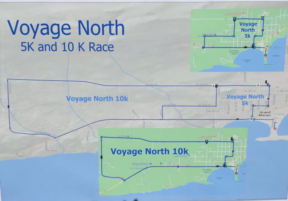Map of Voyage North Race Grand Marais Minnesota