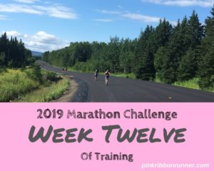 Marathon Training: Week Twelve