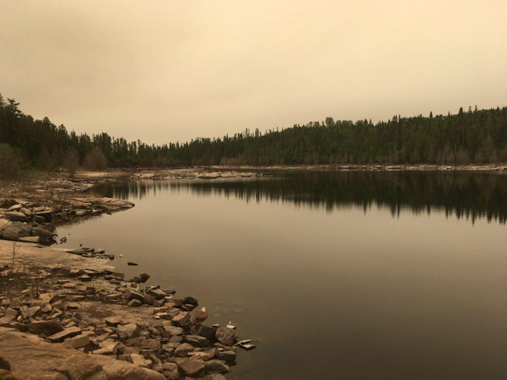 Kaministiquia River in Silver Falls Provincial Park Ontario