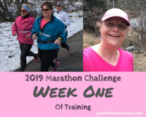 Marathon Training:  Week One