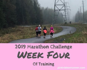 Marathon Training:  Week Four