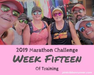 Marathon Training: Week 15