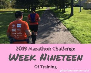Marathon Training: Week 19